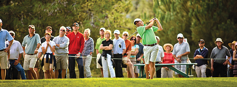The Straight Down Fall Classic at SLOCC attracts tour pros like Fred Couples who enjoy the event's laid-back and intimate setting.
